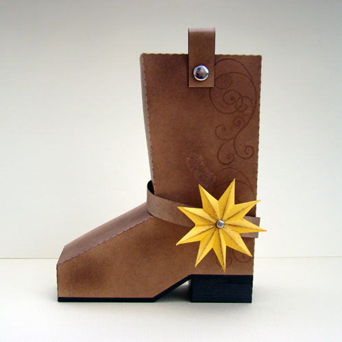 Boot Shaped Gift Box (PDF)