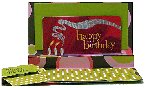 Gift Card Holder Open