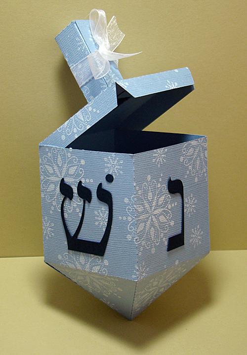 Dreidel Gift Box Open