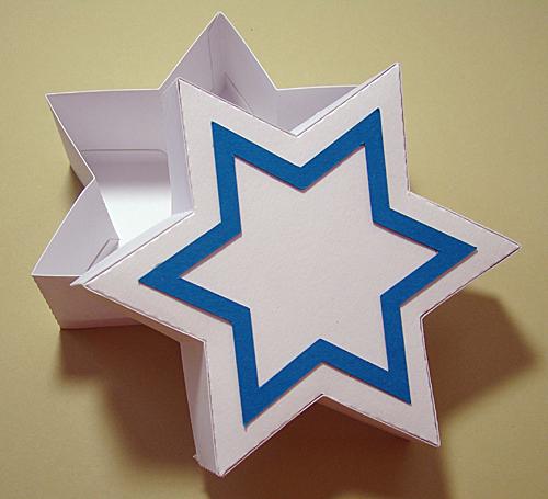 Star of David Gift Box Open
